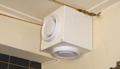 Afzuiging Badkamer Muur : Ventilatie